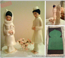 Handmade Wedding Cake Topper by Cake Cupboard