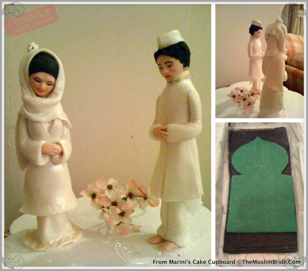 Handmade Wedding Cake Topper by Cake Cupboard - The Muslim Bride ...