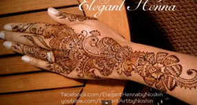 A Henna Design By Noshin of Elegant Henna